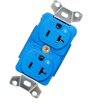 Cardas 4181US Duplex Power Outlet features copper contact surfaces